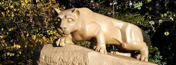 De mascotte, de Nittany Lion