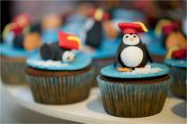 Albertine's pinguin cupcake!
