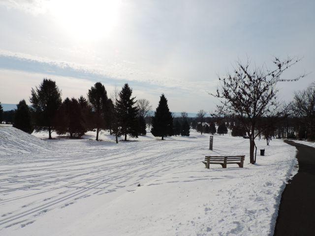 De golfbaan praktisch naast mijn huis