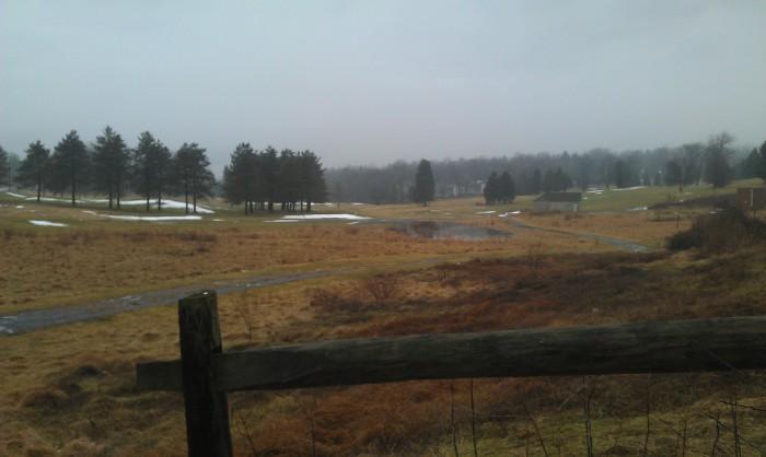 Joggen op de golfbaan