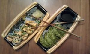 Mijn sushi-takeaway-avondeten