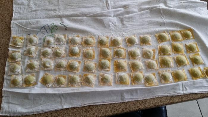 De goed gelukte ravioli's!