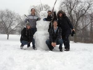 Onze eerste sneeuwpop
