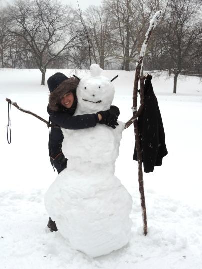 Sneeuwman bij Niagara Falls