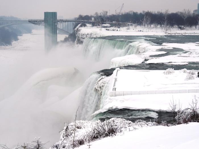 Bridal Veil Falls, middelste stuk is bevroren