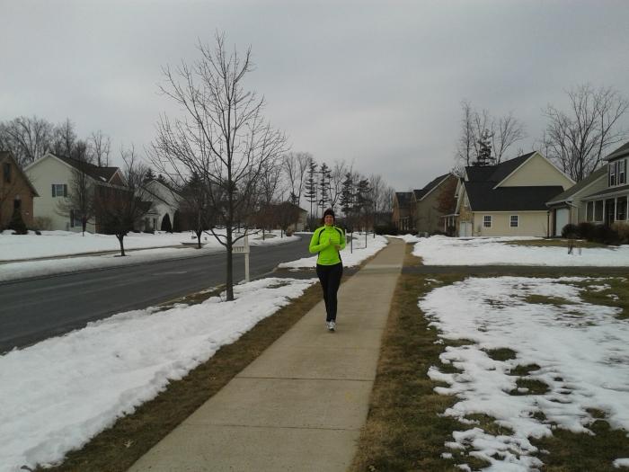 Ik ben aan het joggen... door de Teaberry Ridge wijk