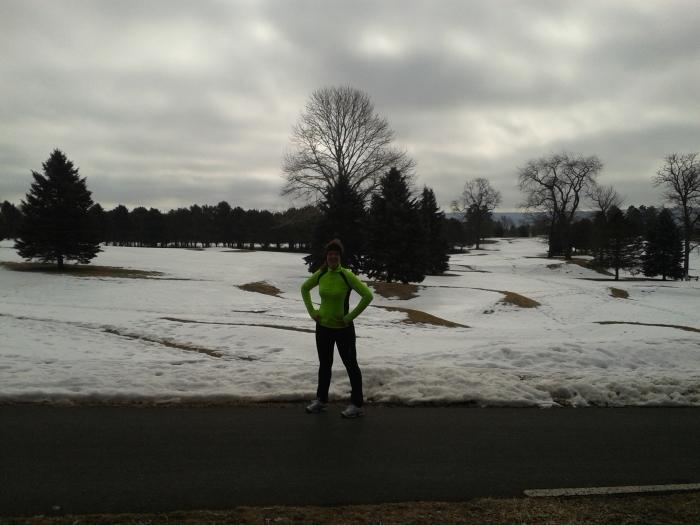De golfbaan zit nog onder een pak sneeuw