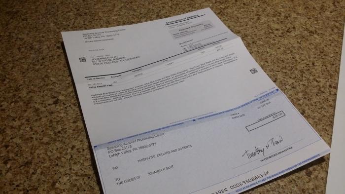 Een cheque voor mij - en nu nog storten!