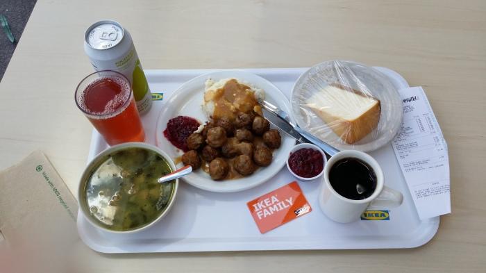 Natuurlijk heb ik Zweedse balletjes als lunch gehad!