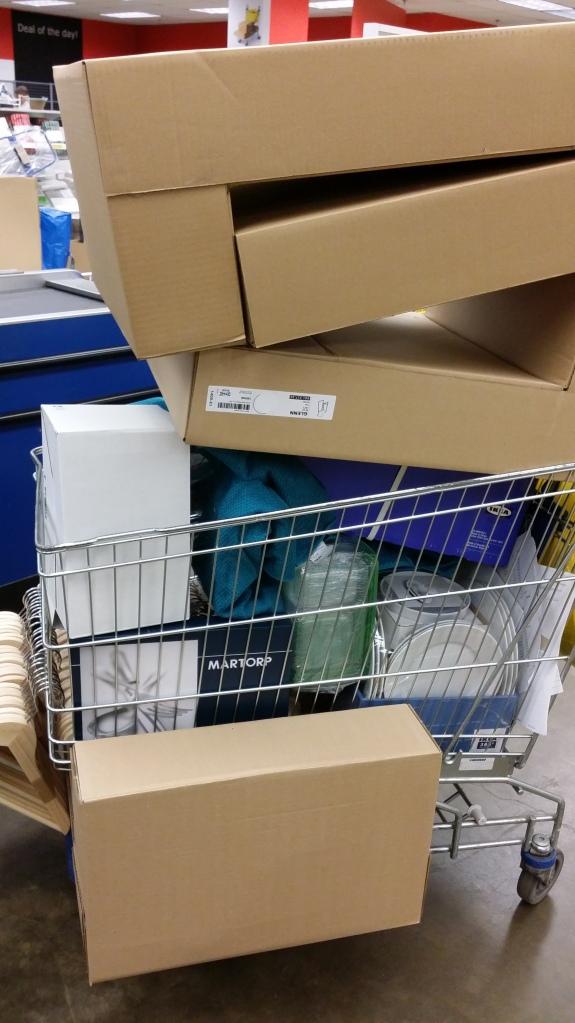 En zo kwam ik de IKEA uit. NB: hier zit nog geen keuken bij hoor!