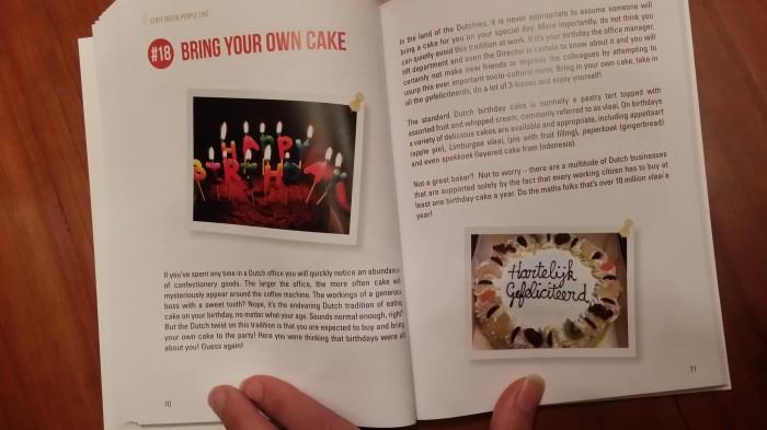 Nederlands dingetje: je eigen taart meenemen op je verjaardag