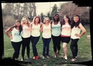 Samantha, Elise, ik, Colleen, Reni, Becky en Sol