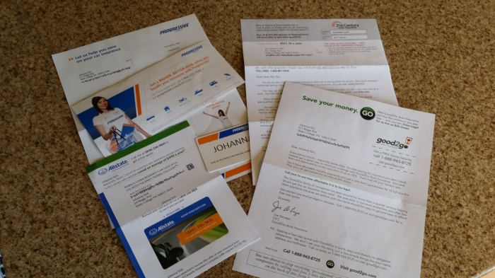 Junk mail van verzekeraars