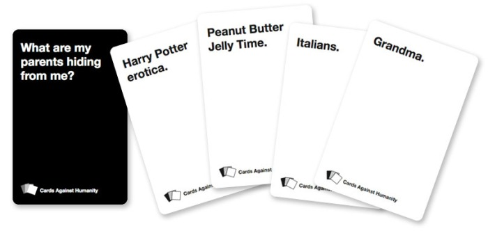 Cards against Humanity. Lol gegarandeerd!