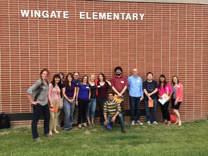 De SCYP-ers voor de Wingate Elementary basisschool