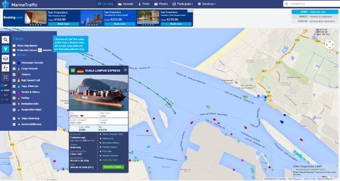 De Kuala Lumpus Express komt aan in de haven van Rotterdam