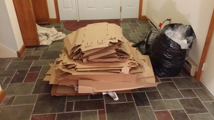 Opgeruimd staat netjes - de IKEA dozen zijn alvast weggewerkt!