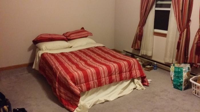 Mijn luchtbed op Old Farm Lane - ziet er chic uit he?