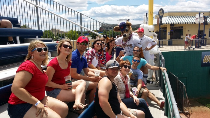 Baseball kijken met de groep - gezellig!