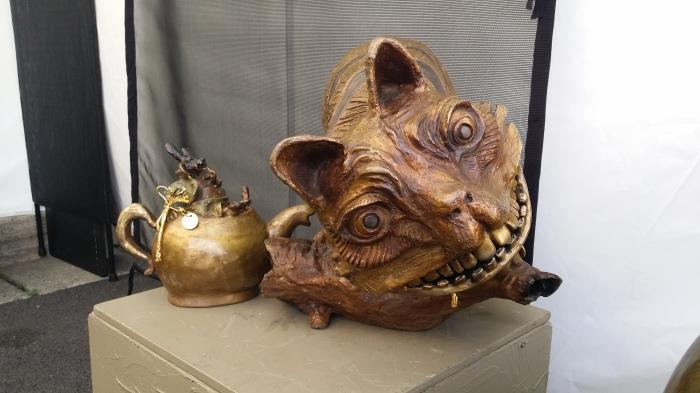 Bronzen beeld van de Cheshire Cat uit Alice in Wonderland... Heeft wel wat weg van Lumpy...