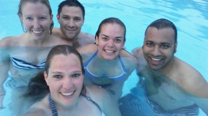 Selfie in het zwembad!