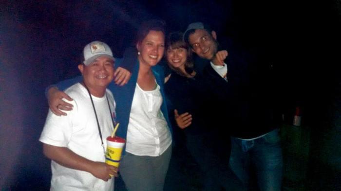 Ted, ik, Louise en Adam
