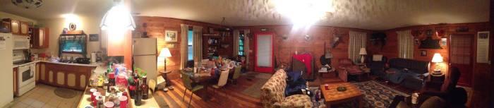 De cabin van Jake's familie