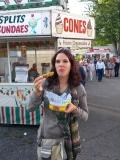 Fried pickles (gefrituurde augurk). Lekker joh!