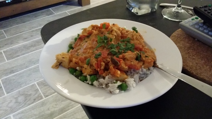 Mijn eerste, echt helemaal zelfgemaakte, Indiase curry