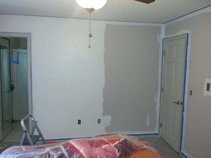 Slaapkamer - muur, 'in process'
