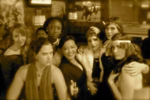 Serieuze foto... met Ted, Reni, Rachel, Lauren, Louise en Meghan