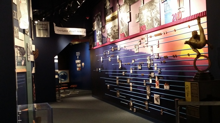 In het sportmuseum