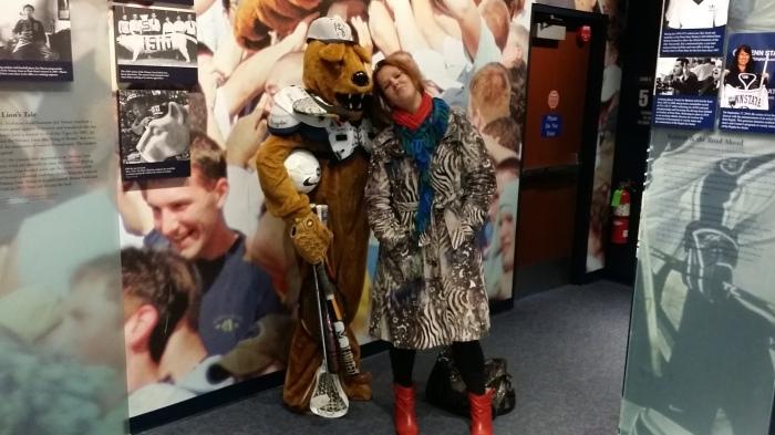 Ik met de Nittany Lion mascotte