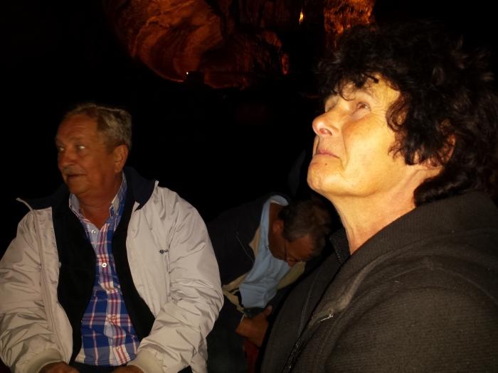 Pa en ma in de boot (ma een beetje angstig)