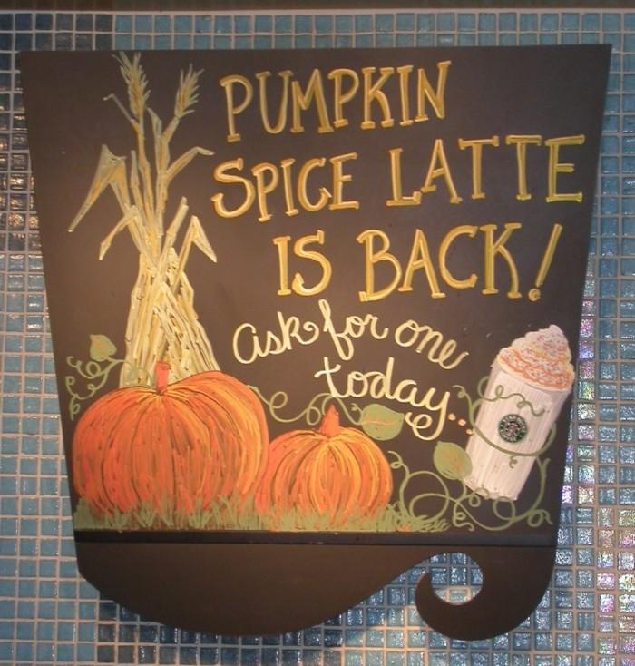 De pumpkin spice latte van Starbucks