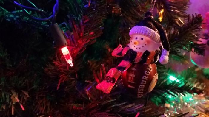 Een Pittsburgh Steelers sneeuwpop