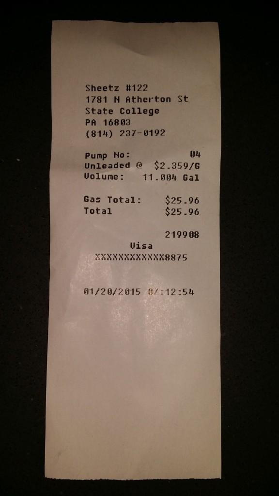 Recent benzinebonnetje. Bijna gratis!