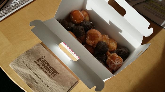 Een doos vol met donut holes!