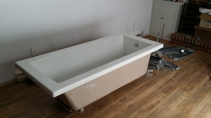 Ons nieuwe, lange bad