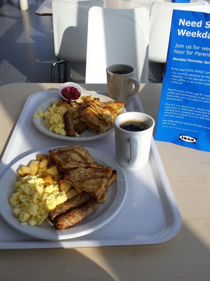 We zijn gestart met een Zweeds/Amerikaans ontbijtje