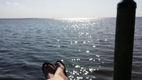 Zonnebaden, met vliegende vissen als entertainment!