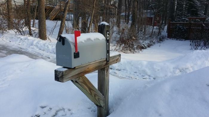 Een gevulde brievenbus