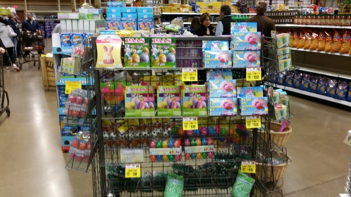 Plastic eieren en verfsetjes