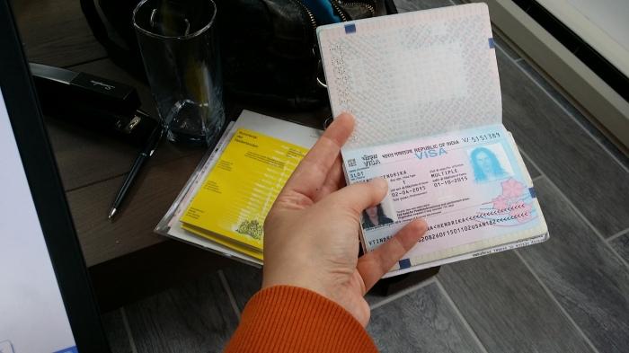Het visum voor India