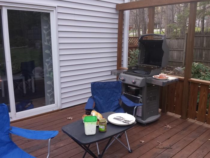 Barbecue voorbereidingen