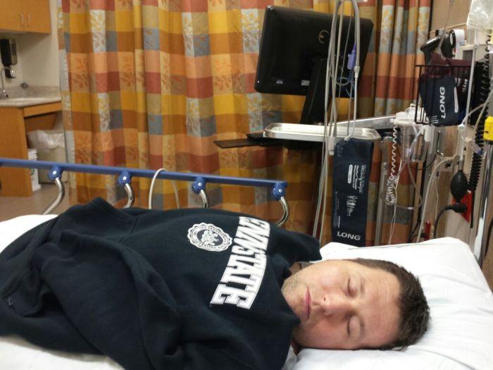 Slapen in de emergency room
