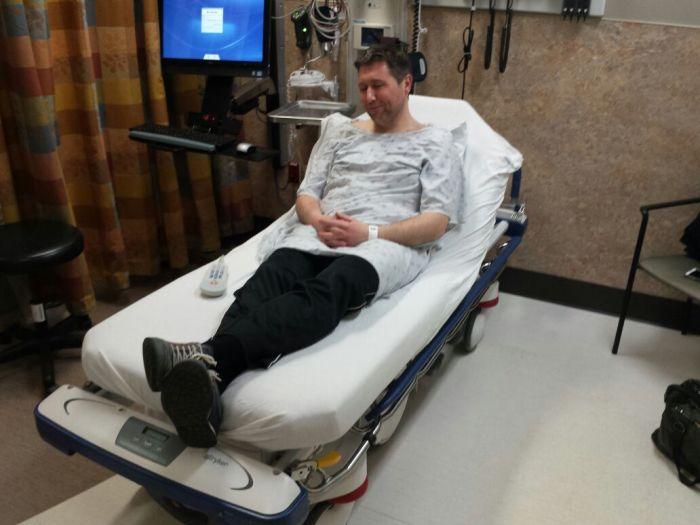 Michiel in de emergency room