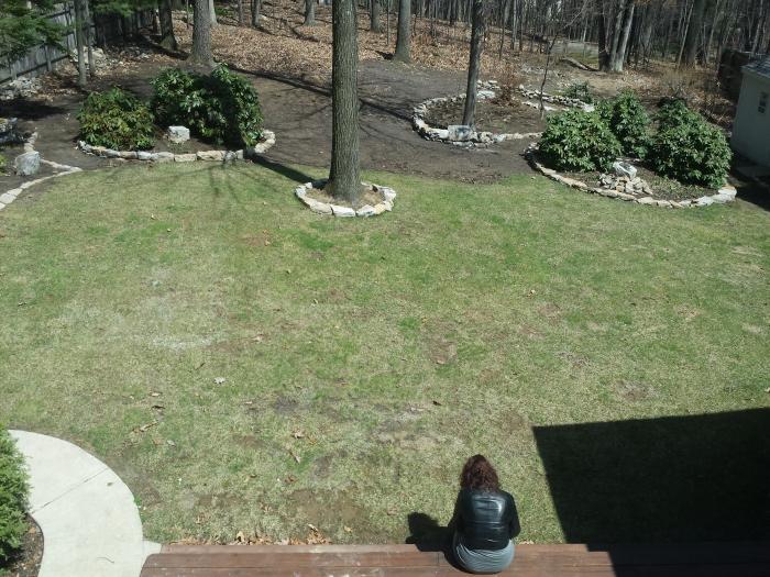 11 april. Lekker warme zon op het leren jasje