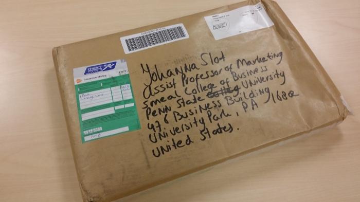 Pakketje uit Nederland!
