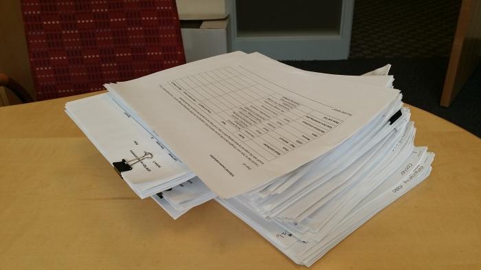Heel veel nakijkwerk om terug te geven... en dit is alleen rapport nummer 4!